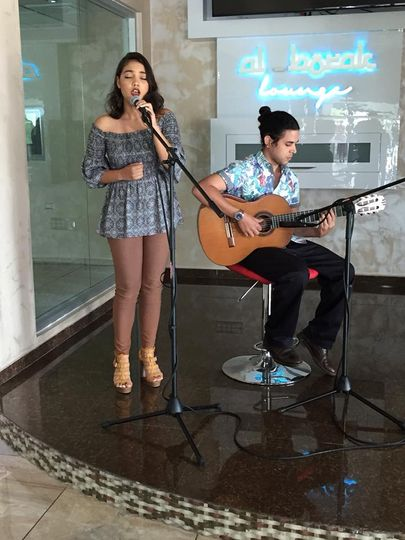 Singing at an event