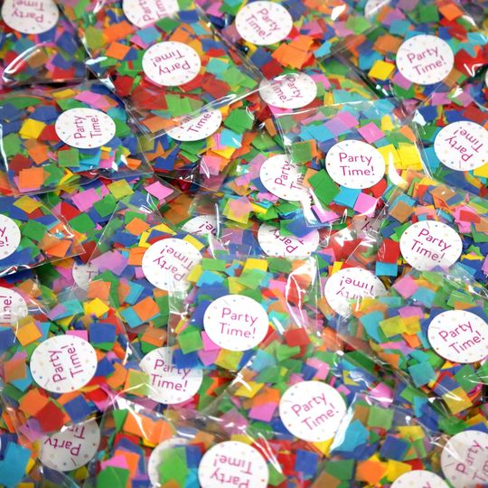Custom confetti party favors