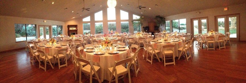 Reception table setting and floral decor