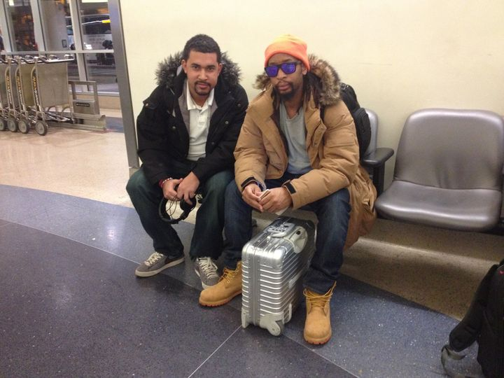 At the airport with Lil Jon
