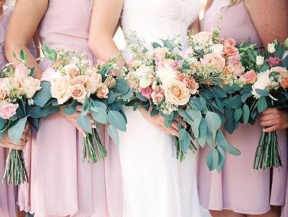 Lush pink dresses