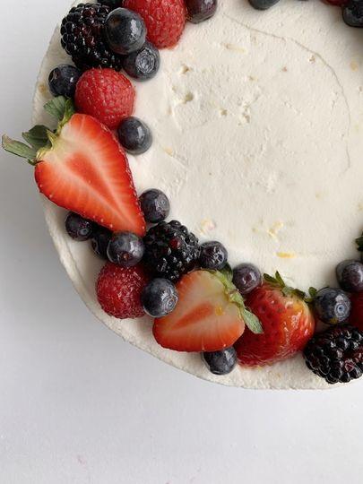 Sweet Lemon Berry Cake