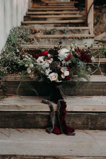 Romantic Deep Red Garden Roses