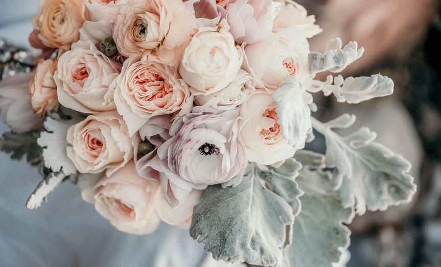 Blush and lavender bouquet