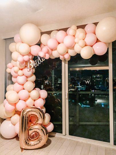 Bridal Suite Balloon Garland