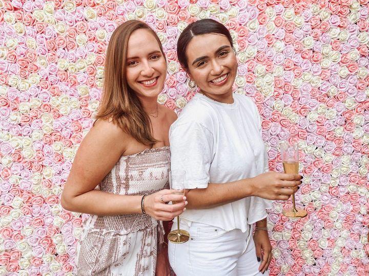 Pink Flower Wall Craft Corner