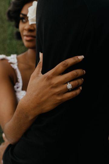 Closeup of ring