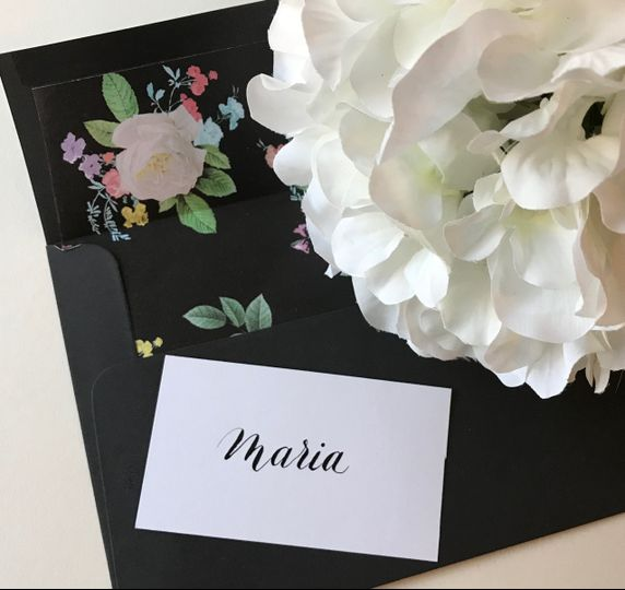 Place Card Modern Calligraphy