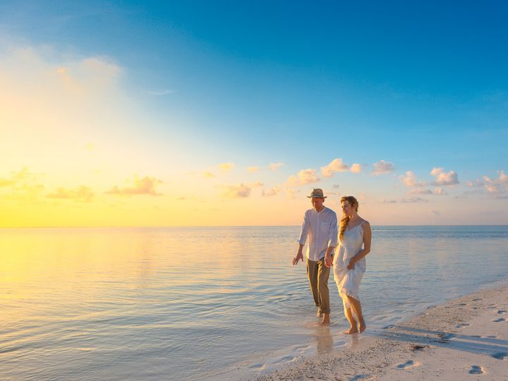 Tmx Canva Couple Walking On Seashore Wearing White Tops During Sunset 51 1837917 157964306775513 Vincentown, NJ wedding travel