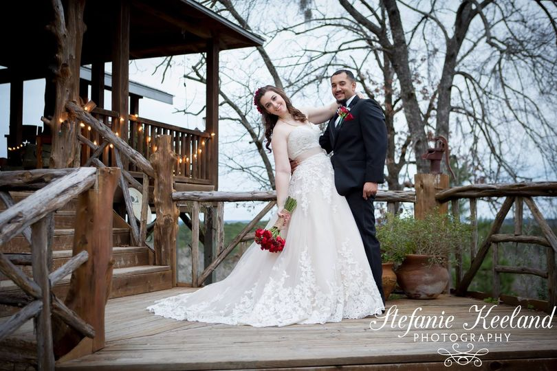 Winter wedding at Staley Mountain Ranch.  Grand staircase.
