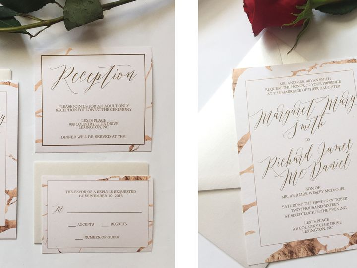 Tmx 1476710803614 Goldmarble Thomasville wedding invitation