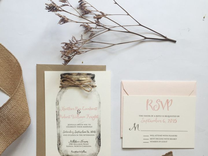 Tmx 1476710903022 Masonjar1 Thomasville wedding invitation