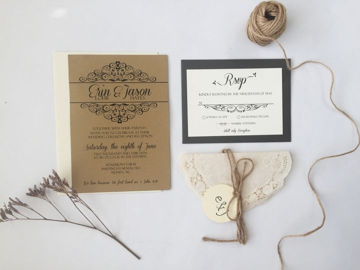 Tmx 1476710925585 Rusticgray 2 Thomasville wedding invitation
