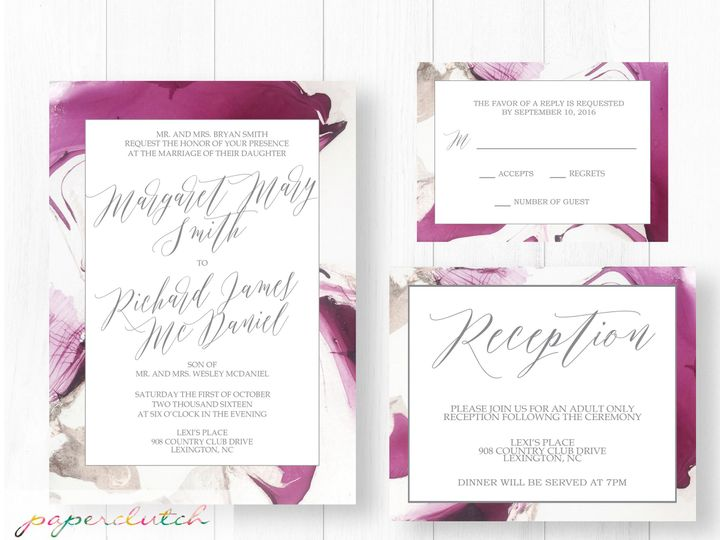 Tmx 1476884585881 Marbleweddingmockup Thomasville wedding invitation