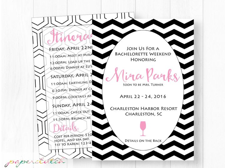 Tmx 1483541255072 Batchloretteweekend Thomasville wedding invitation