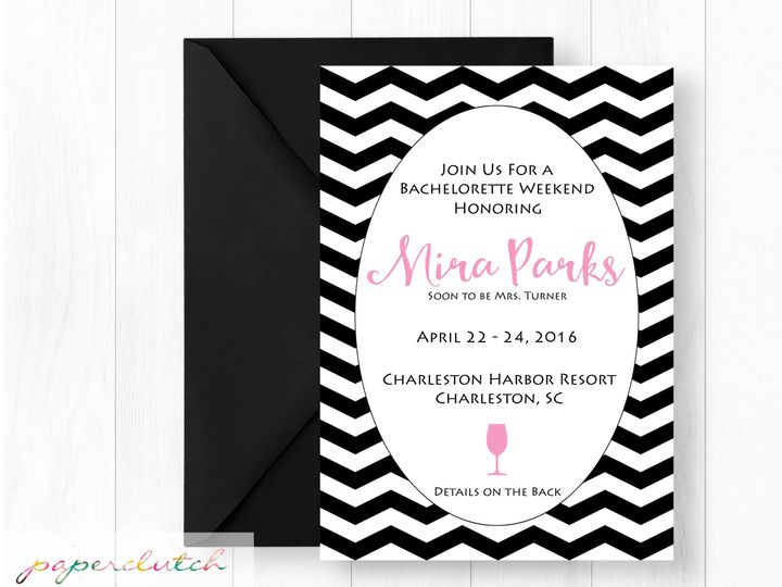 Tmx 1483541272968 Batchloretteweekende Thomasville wedding invitation