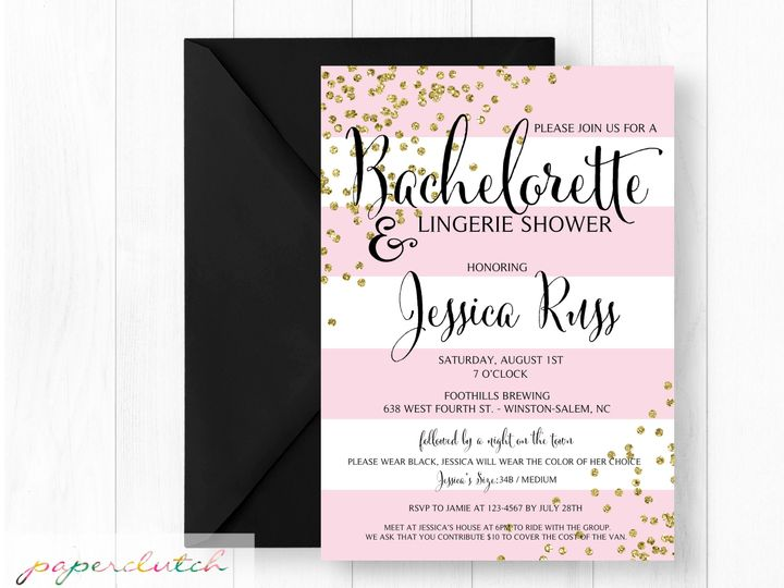 Tmx 1483541319856 Pinkgold Thomasville wedding invitation