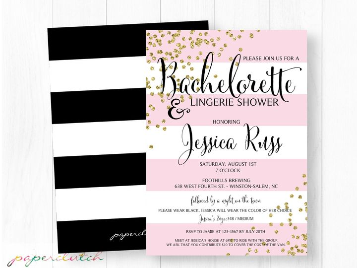 Tmx 1483541334560 Pinkgoldbach Thomasville wedding invitation