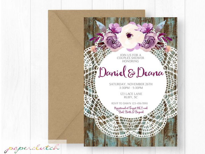 Tmx 1483541379474 Rusticlace Thomasville wedding invitation