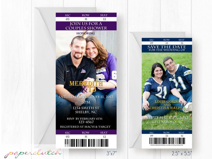 Tmx 1483541427364 Ticketsize Thomasville wedding invitation