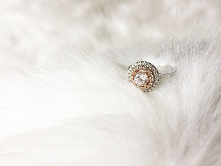 Double Halo two-tone ring