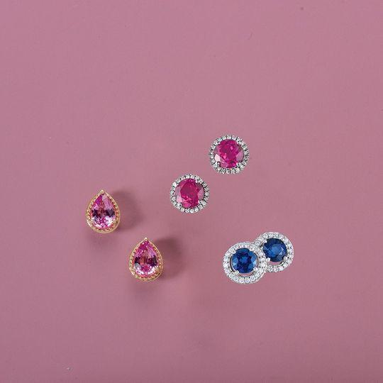 Lab-Grown Gemstone Earrings