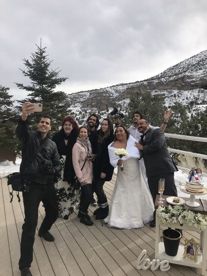 A wedding in the snow