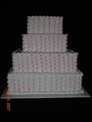 Tmx 1200929114691 PinkBasketweave%28Small%29 Harrisonville wedding cake