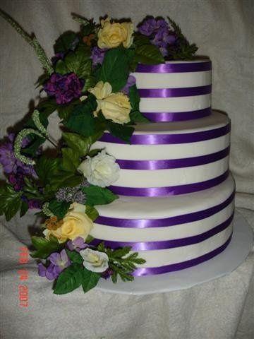 Tmx 1200929132628 PurpleStripewithFlowers%28Small%29 Harrisonville wedding cake