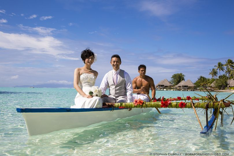 Beach wedding in Bora Bora