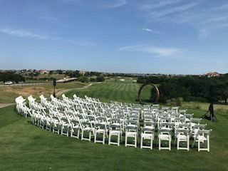 Ceremony Site overlooking the golf course