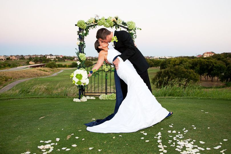 Ceremony overlooking the golf course