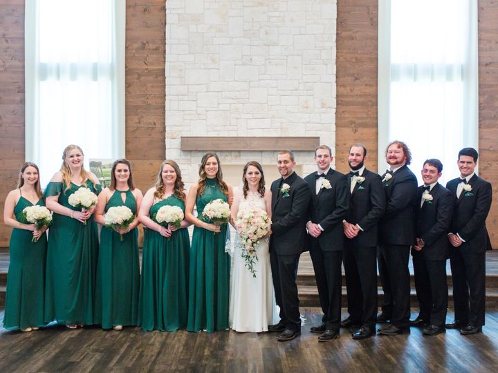 Tmx Bride Groom And Friends With Flowers 51 591027 North Richland Hills, TX wedding florist