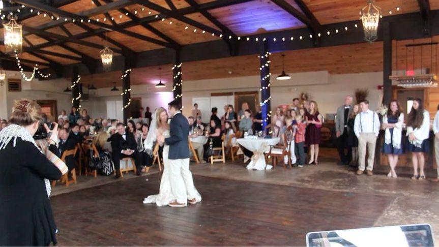 First dance at White Oaks Barn