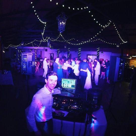 Wedding celebration at White Oaks Barn