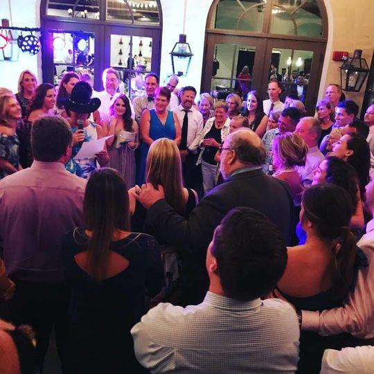 Wedding celebration at Montaluce Winery & Vineyards