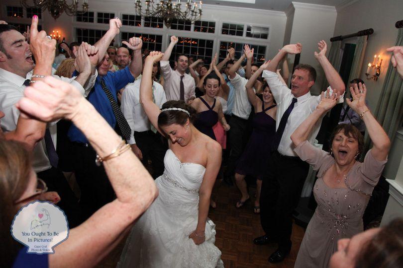 Dave & Alyssa's Wedding Reception.  Coonamessett Inn, Falmouth MA.  Music by B-Sharp Entertainment...