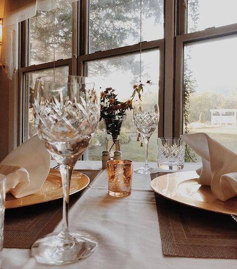 Elegant table set ups