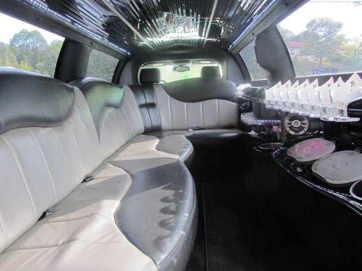 White interior of the limousine