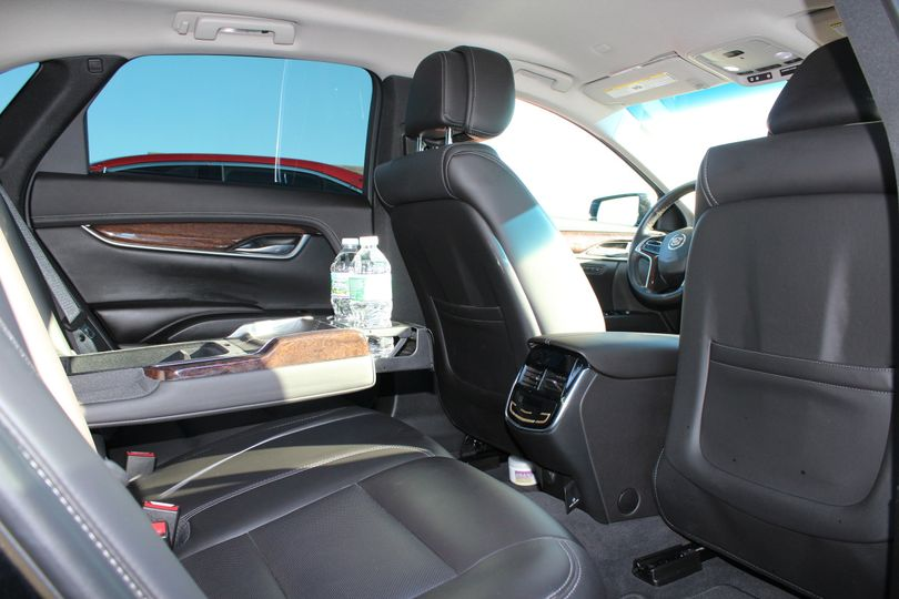Interior of sedan car