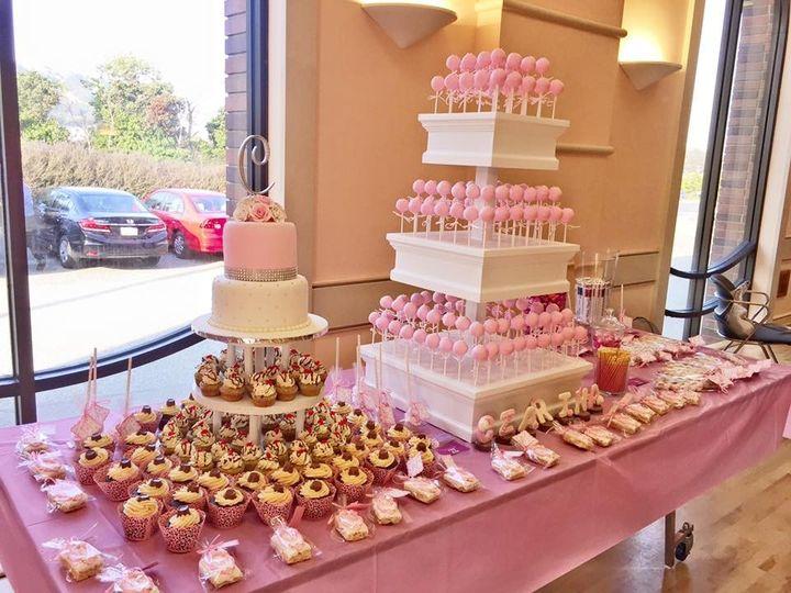 pink cakepops buffet