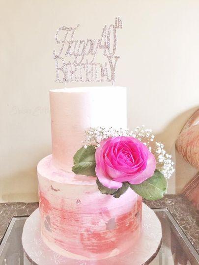 40th bday cake