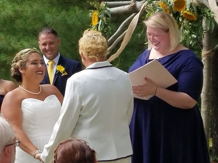 Tmx 1535737234 4f35c0c1832191a7 1535737233 843a3e2a18ce19f0 1535737232116 4 Laughing Portland, Maine wedding officiant