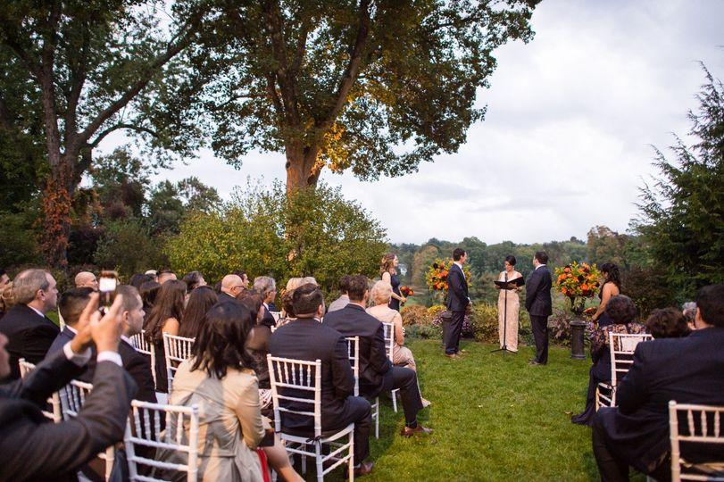 Ceremony under the trees
