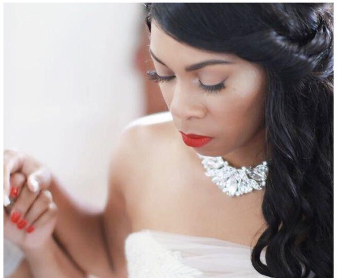 Day of bridal airbrush makeup