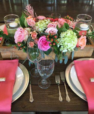 Vibrant table centerpieces