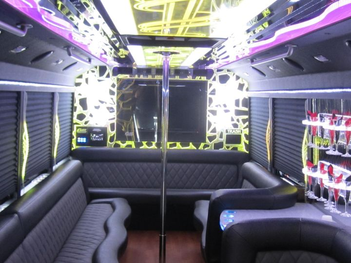 Interior of the truck