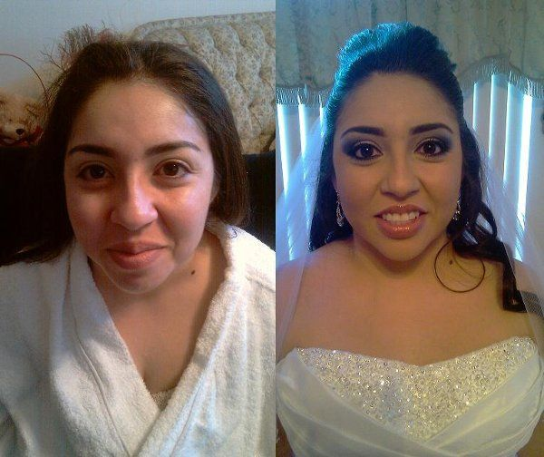 Before and After. Hair and Makeup By Bella