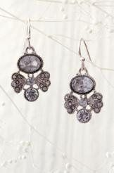 Beautiful Deco heirloom earrings with hand cut CZ that sparkle like the real thing !