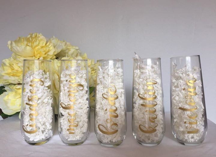 Stemless champagne flutes - $8